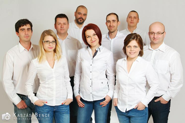 üzleti csoportkép fotózása