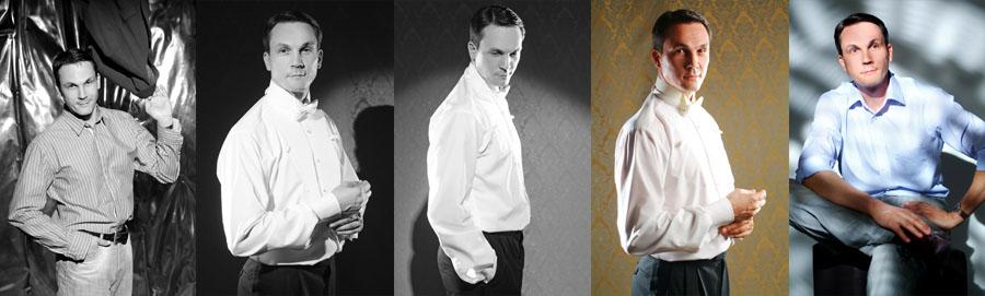 Önéletrajzi fénykép, ötképes üzleti portréfotó sorozat