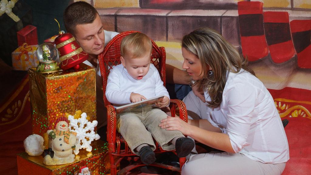 karácsonyi családi kép