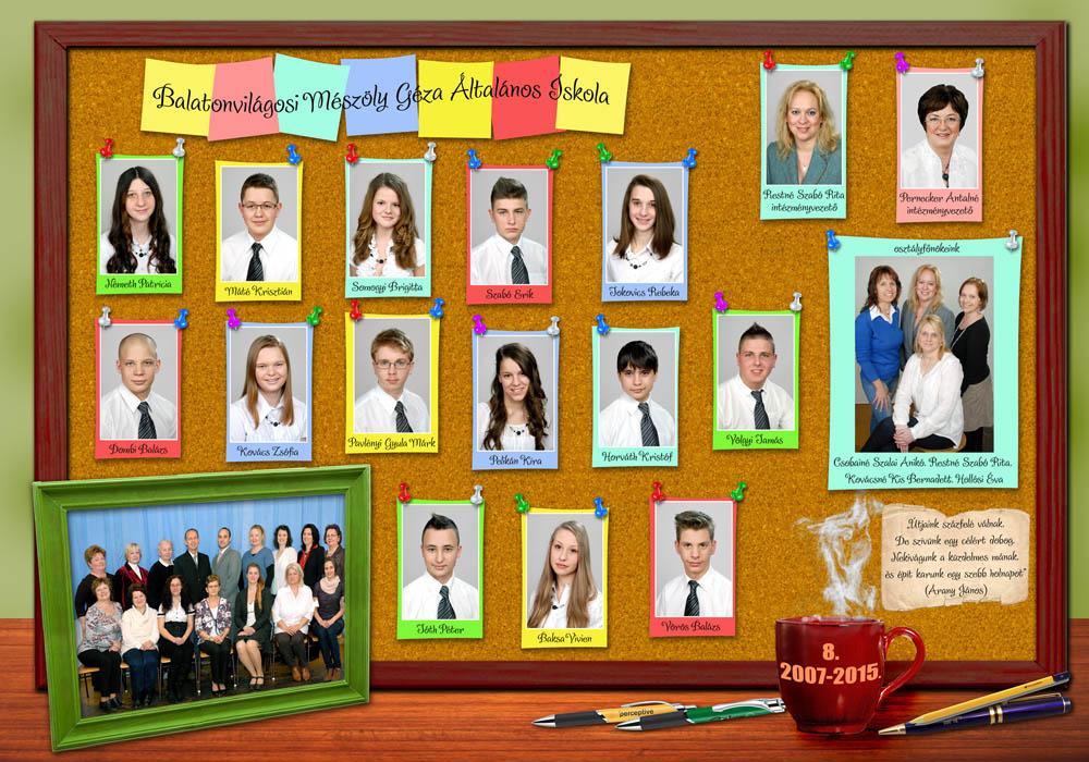 színes iskolai tabló